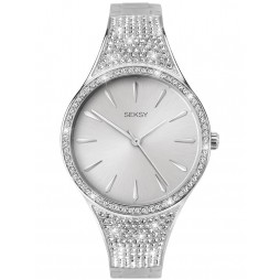 Sekonda Seksy Rhodium Plated  Swarovski Crystal Bracelet Watch 2668