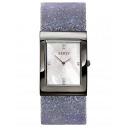 Sekonda Ladies Seksy Rocks Mother of Pearl Dial Stone Set Lilac Bracelet Watch 2859