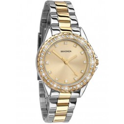 Sekonda Two Tone Stone Bezel Watch 4252
