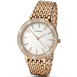 Sekonda Ladies Rose Gold Plated Watch 2157