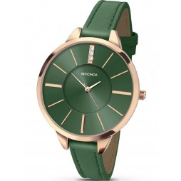 Sekonda Ladies Green Leather Watch 2249