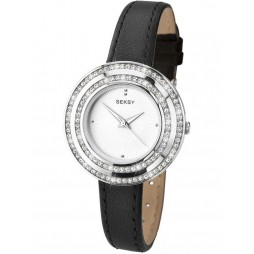 Sekonda Ladies Black Leather Strap Watch 2074