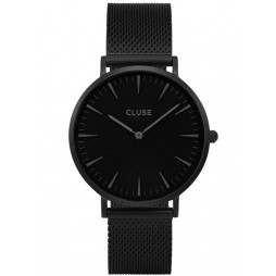 Cluse La Boheme Full Black Mesh Bracelet Watch CL18111