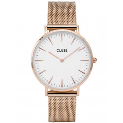 Cluse La Boheme Rose Gold Plated Mesh Bracelet Watch CL18112