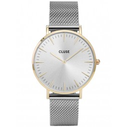 Cluse La Boheme Two Tone Mesh Bracelet Watch CL18115