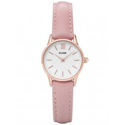 Cluse La Vedette Rose Gold Plated Pink Strap Watch CL50010