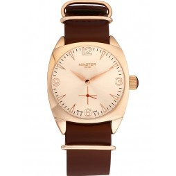Minster 1949 Mens Burlington Brown Leather Strap Watch MN04RGRG10