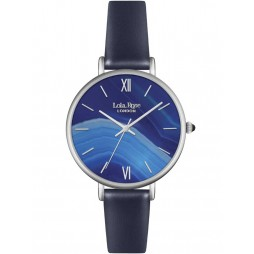 Lola Rose Ladies Blue Sandstone Leather Strap Watch LR2015