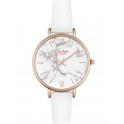 Lola Rose Ladies White Howlite Leather Strap Watch LR2022