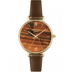 Lola Rose Ladies Yellow Tiger Eye Leather Strap Watch LR2030