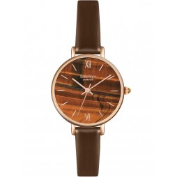 Lola Rose Ladies Sapphire Agate Leather Strap Watch LR2046