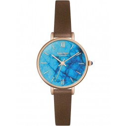 Lola Rose Ladies Blue Magnesite Leather Strap Watch LR2040