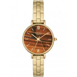 Lola Rose Ladies Yellow Tiger Eye Stainless Steel Bracelet Watch LR4014