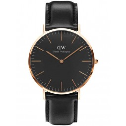 Daniel Wellington Mens Classic Black Sheffield Watch DW00100127