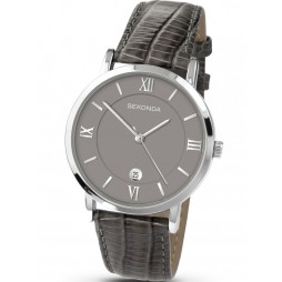 Sekonda Mens Classic Grey Strap Watch 3394