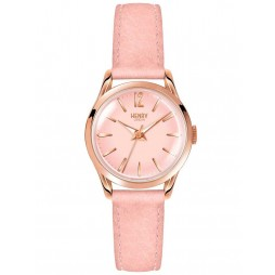 Henry London Shoreditch Pink Strap Watch HL25-S-0170