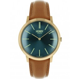Henry London Mens Iconic Blue Watch HL40-S-0274