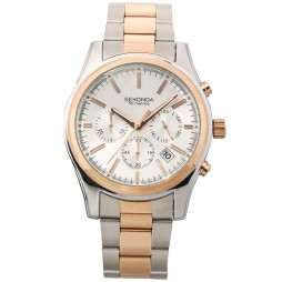 Sekonda Mens Two Tone Chronograph Watch 3486