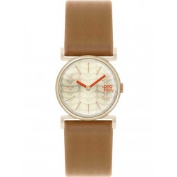Orla Kiely Cecelia Gold Plated Brown Strap Watch OK2050