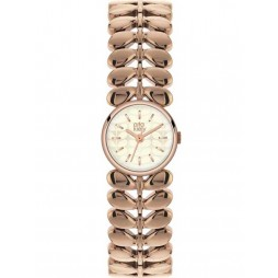 Orla Kiely Laurel Rose Gold Plated Leaf Bracelet Watch OK4020