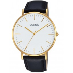 Lorus Mens Gold Plated Watch RH882BX9