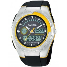 Lorus Mens Black Digital Dial Watch R2361HX9