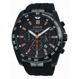 Lorus Mens Black Chronograph Watch RT327EX9