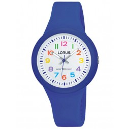 Lorus Kids Easy Read Dark Blue Rubber Strap Watch RRX45EX9