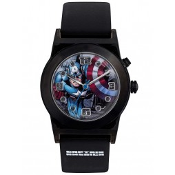 Avengers Kids Black Light Up Captain America Watch CTA3121