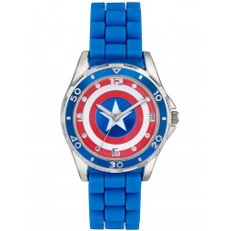 Avengers Kids Blue Red Strap Iron Man Watch CTA3138