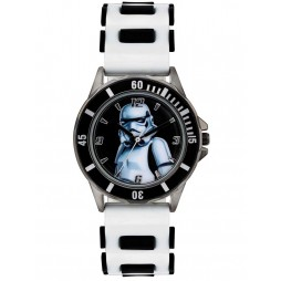 Star Wars Kids White Black Storm Trooper Watch STM3518