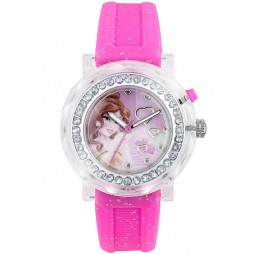 Disney Kids Pink Belle Flashing Watch PN1145