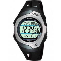 Casio Sports Gear Digital Black Plastic Strap Watch STR-300C-1VER