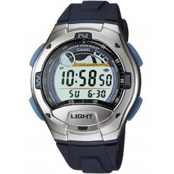 Casio Steel Grey Rubber Digital Strap Watch W-753-2AVES