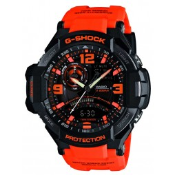 Casio G-Shock Master Of G Air Gravitymaster Orange Plastic Strap Watch GA-1000-4AER
