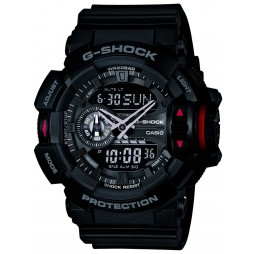 Casio G-Shock Classic Dual Display Black Plastic Strap Watch GA-400-1BER