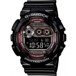 Casio Mens G-Shock Alarm Chronograph Strap Watch GD-120TS-1ER