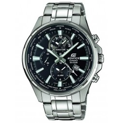 Casio Edifice Classic World Time Black Bracelet Watch EFR-304D-1AVUEF