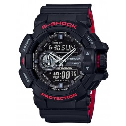 Casio Mens G-Shock Duo Display Strap Watch GA-400HR-1AER