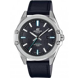 Casio Edifice Classic Black Leather Strap Watch EFR-S107L-1AVUEF