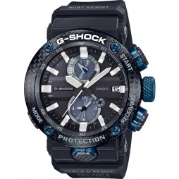 Casio G Shock Master Of G Gravitymaster Carbon Core Guard Bluetooth Solar Blue Plastic Strap Smartwatch GWR-B1000-1A1ER