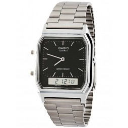 Casio Gents Steel Black Duo Dis Watch AQ-230A-1DMQYES