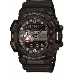 Casio G-Shock Classic G'MIX Dual Display Black Plastic Strap Smartwatch GBA-400-1AER