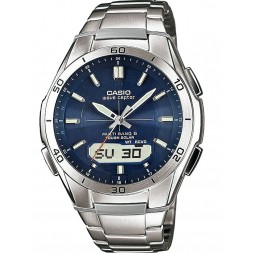 Casio Mens CASIO Collection Titanium Waveceptor Solar Watch WVA-M640TD-1AER