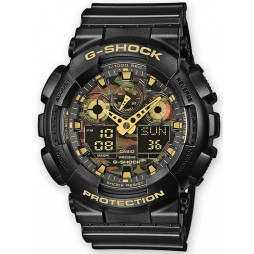 Casio G-Shock Classic Dual Display Camouflage Plastic Strap Watch GA-100CF-1A9ER