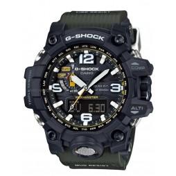 Casio G-Shock Master Of G Land Mudmaster Solar Dual Display Green Plastic Strap Watch GWG-1000-1A3ER