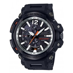 Casio Mens G-Shock Gravitymaster Black Steel Chronograph Rubber Strap Watch GPW-2000-1AER