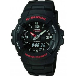 Casio Mens G-Shock Black Dual Display Watch G-100-1BVMUR
