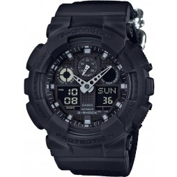 Casio Mens G-Shock Dark Blue Fabric Watch GA-100BBN-1AER