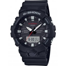 Casio Mens G-Shock Dark Blue Rubber Watch GA-800-1AER